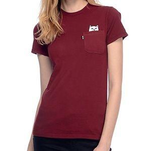 Rip N Dip burgundy T-shirt